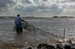 Fisherman on the Elbe Stock Photography