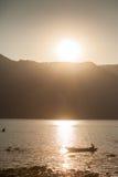 Fisherman on Fewa Lake, Pokhara, Nepal Stock Images