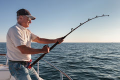 Fisherman fishing Royalty Free Stock Photo
