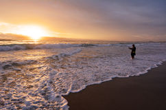 Fisherman fishing in Gold Coast Queensland Australia Royalty Free Stock Images