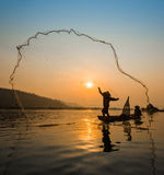 Fisherman Fishing Royalty Free Stock Image