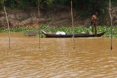 Fisherman with fishing net Royalty Free Stock Image