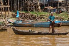Fisherman with fishing net Stock Image