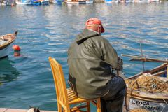 Fisherman and fishing royalty free stock photography