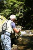 Fisherman fishing in river Royalty Free Stock Image