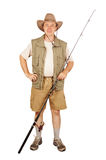 Fisherman with a fishing rod Royalty Free Stock Photos