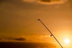 Fisherman Fishing Rod Silhouette Royalty Free Stock Photo