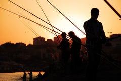Fisherman Fishing Rod Silhouette Royalty Free Stock Image
