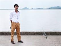 Fisherman fishing Stock Photography