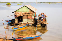 Fisherman floating house Royalty Free Stock Images