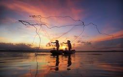 Fisherman fraind Royalty Free Stock Images