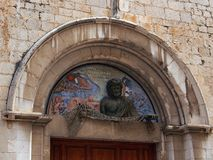 Fisherman Frieze Over an Entrance to the Dali Theatre-Museum, Figueres Stock Photos