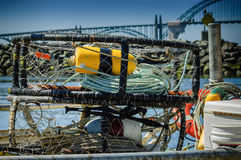 Fisherman gears in a port of Newport, Stock Image