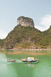 Fisherman in Halong Bay Royalty Free Stock Image