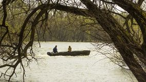 Fisherman and his Wife in the Boat. stock images