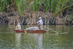 Fisherman at the Hoi An River, Vietnam Royalty Free Stock Image