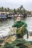 Fisherman at Hoi An Stock Photo