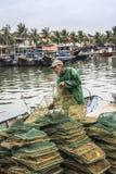 Fisherman at Hoi An Stock Image