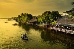 Fisherman, Hoian City  - Vietnam Stock Photo