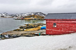 Fisherman house in Norway Stock Photography