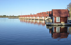 Fisherman huts Royalty Free Stock Photo