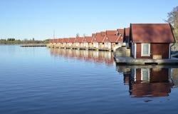 Fisherman huts Royalty Free Stock Photo