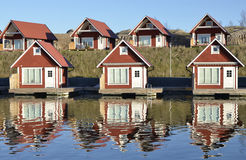 Fisherman huts Royalty Free Stock Photography