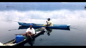 Free Fisherman In A Small Boat With His Traps On The Bi Stock Photos - 36443653