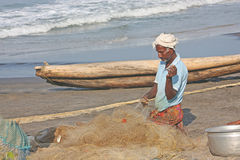 Fisherman in India Stock Images