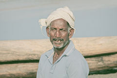 Fisherman in India Stock Photography
