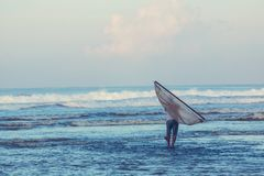 Fisherman in Indonesia Royalty Free Stock Images