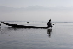 Fisherman on Inle Lake Royalty Free Stock Image