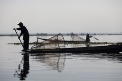 Fisherman on Inle Lake Stock Image
