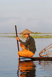 Fisherman of Inle lake Royalty Free Stock Photo