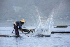 Fisherman - Inle Lake - Myanmar (Burma) Stock Images