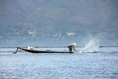 Fisherman - Inle Lake - Myanmar (Burma) Stock Images