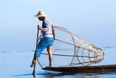 Fisherman, Inle Lake, Myanmar Royalty Free Stock Image