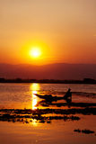 Fisherman, Inle Lake, Myanmar Stock Photos