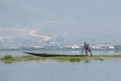 Fisherman at Inle Lake Royalty Free Stock Images