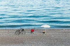 Fisherman in  istanbul Stock Photography