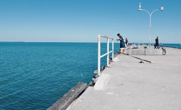 Fisherman: Jetty Life royalty free stock photo