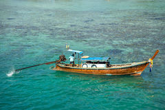 Fisherman in krabi town 2 Stock Image