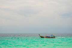 Fisherman in krabi town 4 Stock Photos