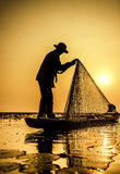 Fisherman of Lake stock photography