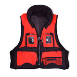 Fisherman life jacket with pockets Stock Images