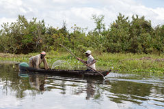 Fisherman life in madagascar countryside on river Royalty Free Stock Photography