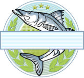 Fisherman logo Royalty Free Stock Photo