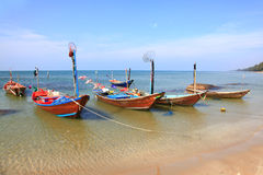 Fisherman Long Tail Boat Stock Image
