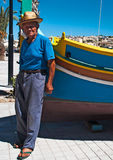 Fisherman Malta stock photo