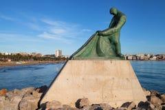 Fisherman Memorial in Salou Royalty Free Stock Images